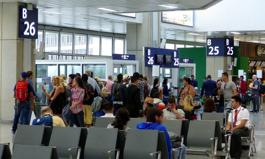 Aeroporto do Galeão, que teve queda no movimento de passageiros na pandemia Foto: Marcelo Carnaval / Agência O Globo