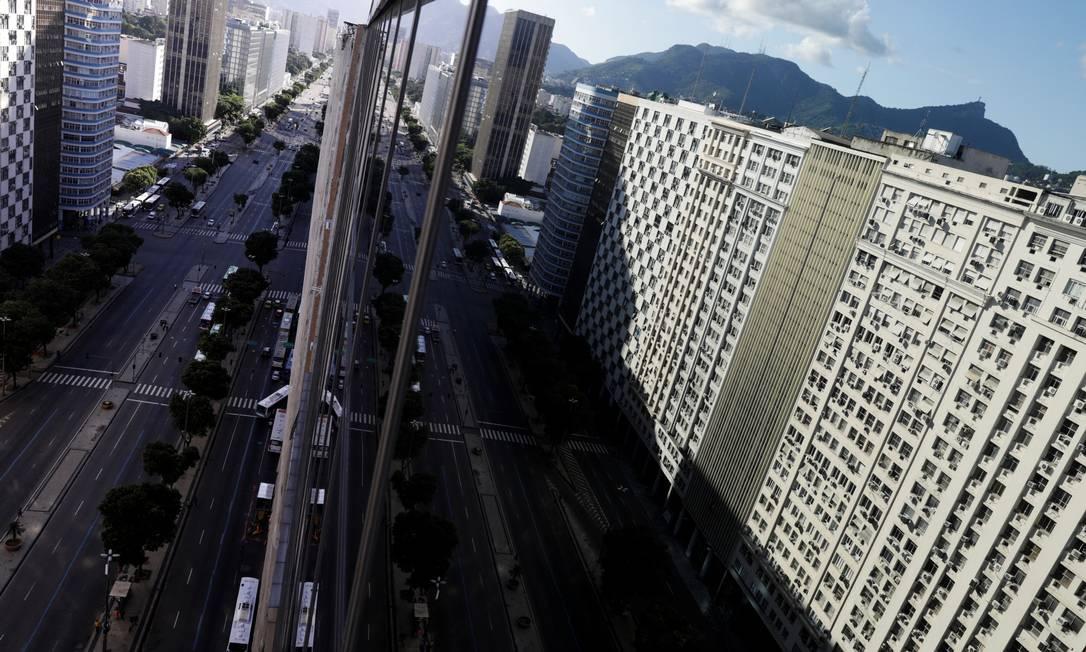 Vista aérea da Av.Presidente Vargas, no Rio Foto: Ricardo Moraes / Reuters