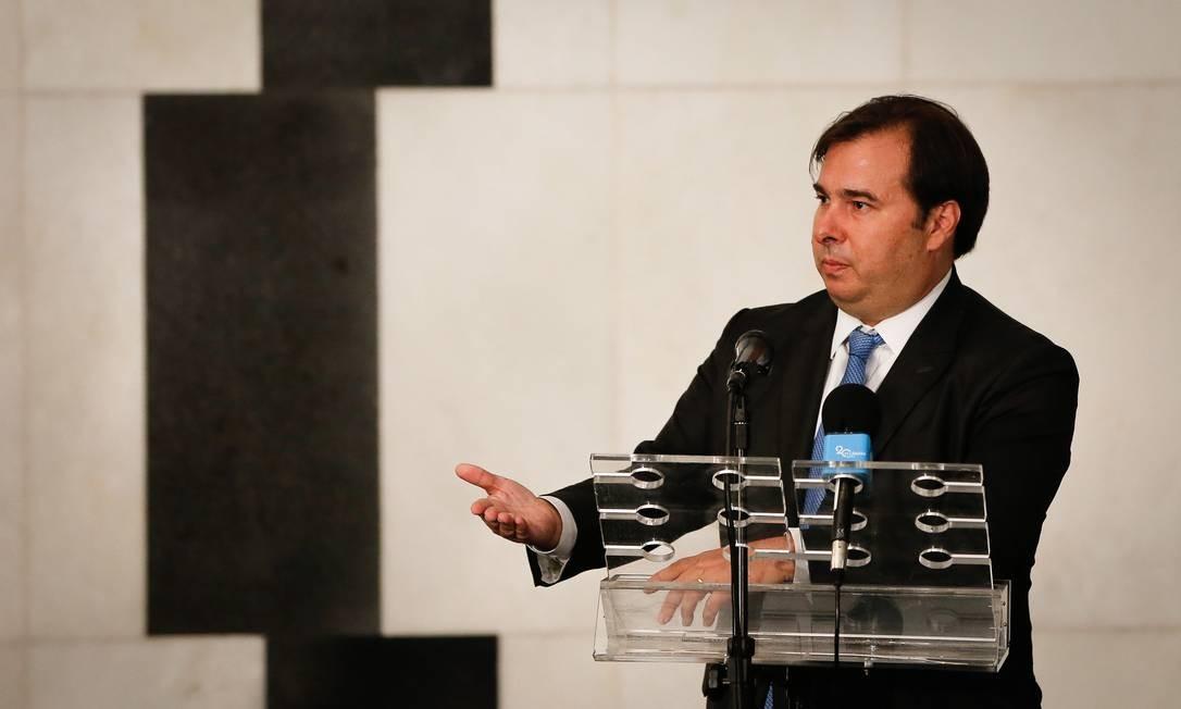 Presidente da Câmara, Rodrigo Maia Foto: Pablo Jacob / Agência O Globo