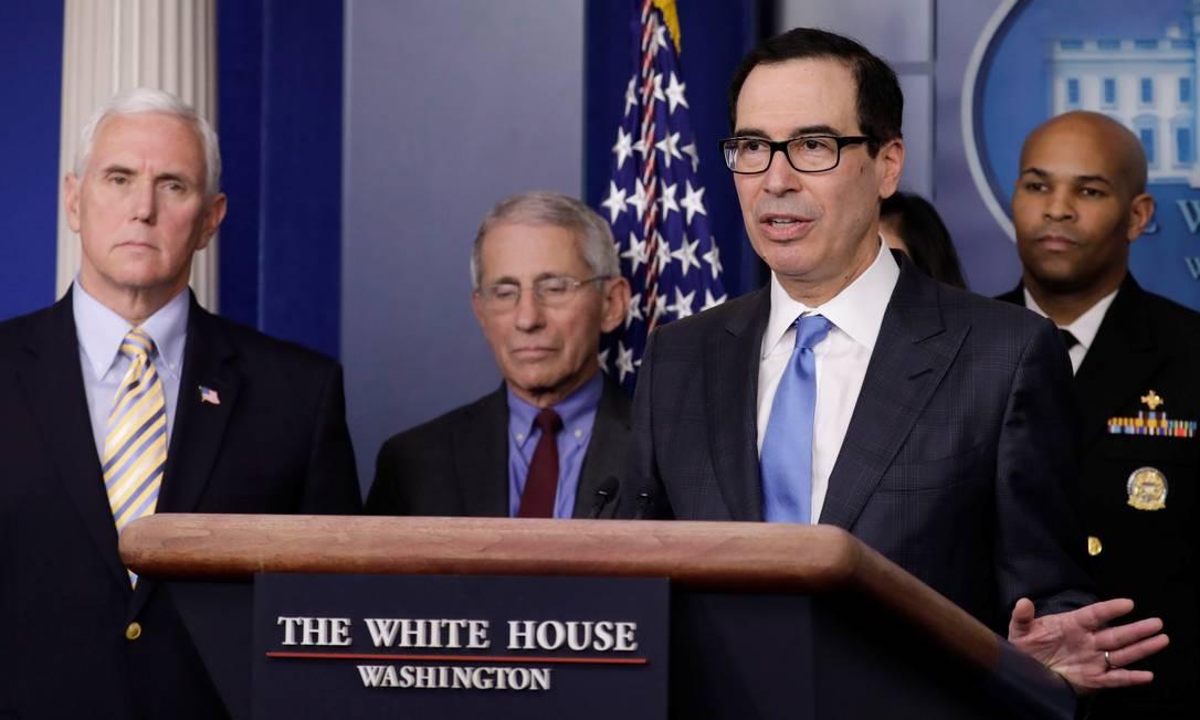 Secretário do Tesouro dos EUA, Steve Mnuchin Foto: Yuri Gripas / Reuters