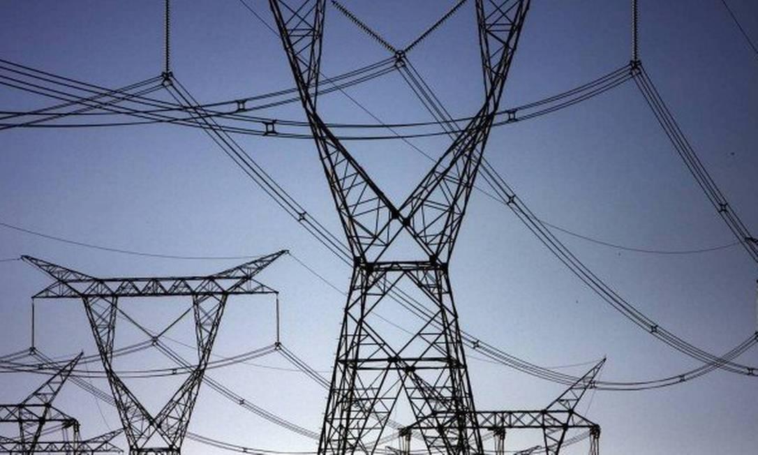 Torres de transmissão de energia Foto: Arquivo