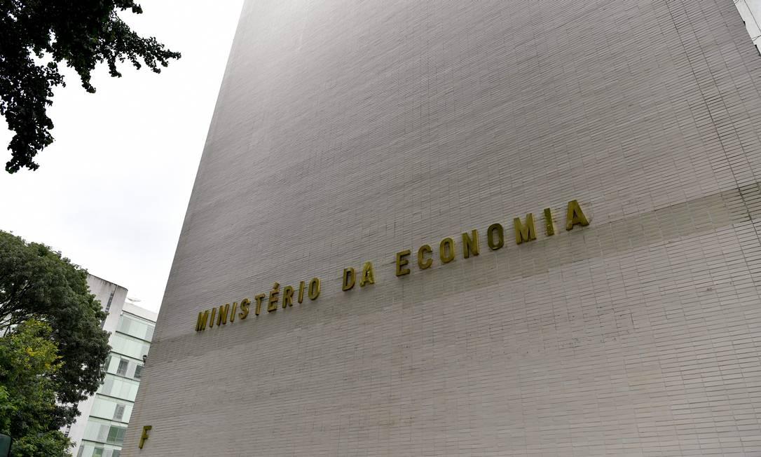 Fachada do Ministério da Economia (ME) Foto: Geraldo Magela / Agência O Globo