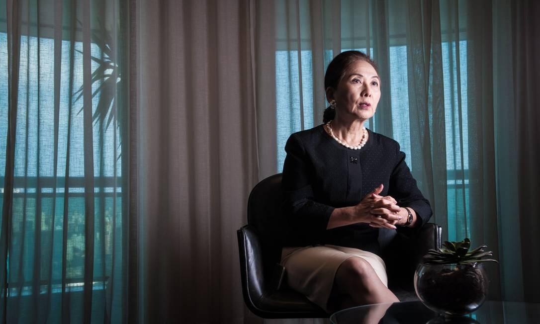 Presidente e controladora da Blue Tree Hotels, Chieko Aoki Foto: Agência O Globo