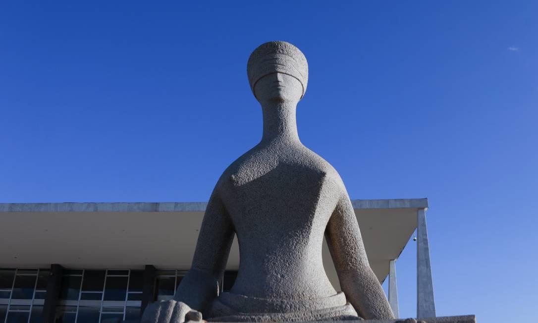 Fachada do Supremo Tribunal Federal (STF) em Brasília Foto: Michel Filho / Agência O Globo