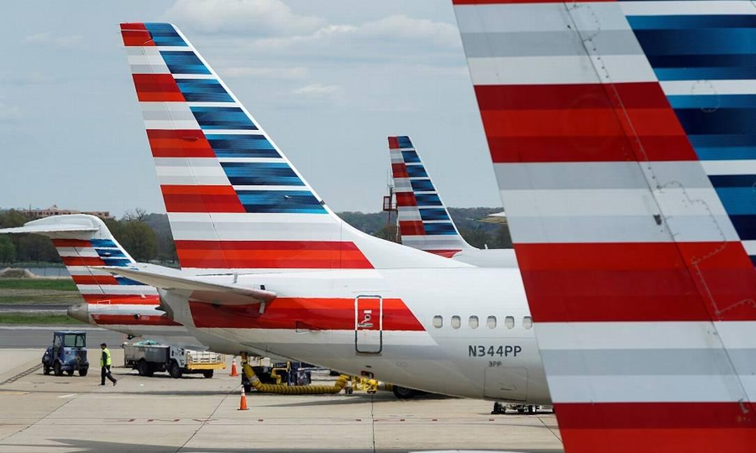 Aéreas dos EUA em dificuldades com pandemia. Foto: Joshua Roberts / REUTERS