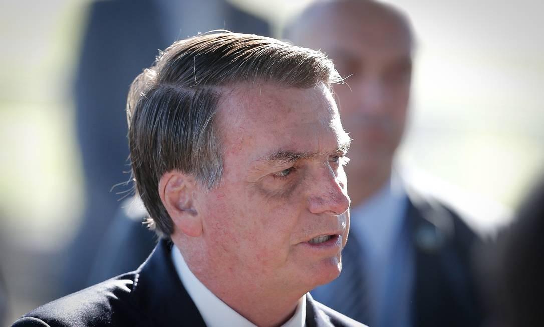 Presidente Jair Bolsonaro sanciona socorro a estados. Sanção foi publicada hoje no D.O. Foto: Pablo Jacob / Agência O Globo