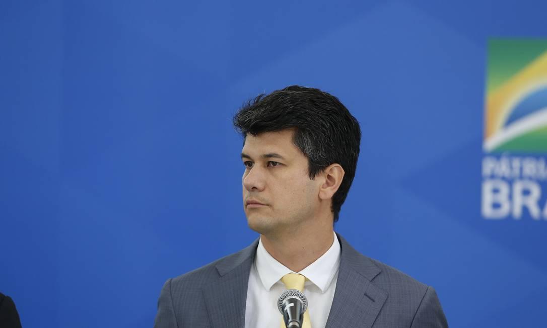 Presidente do BNDES Gustavo Montezano, no Salão Oeste, do Palácio do Planalto Foto: Pablo Jacob / Agência O Globo