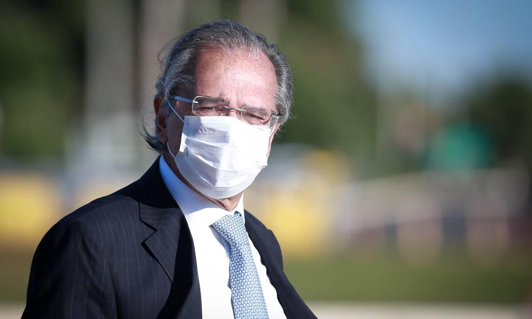 O ministro da Economia, Paulo Guedes, rebate críticas à cumulatividade do tributo Foto: Pablo Jacob / Agência O Globo