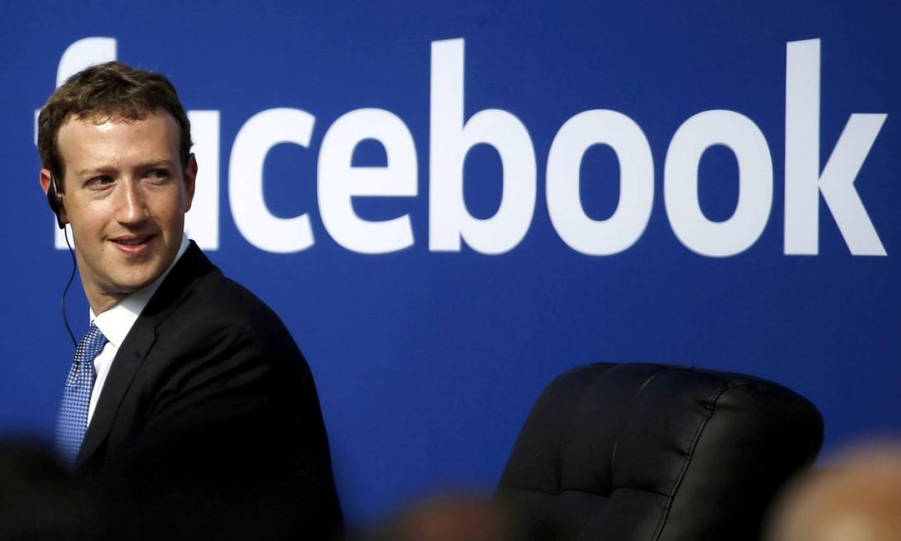 Mark Zuckerberg aumentou em US$ 8,1 bilhões sua fortuna somente nesta quinta-feira, com a força dos resultados do primeiro trimestre do Facebook. Foto: Stephen Lam / Reuters