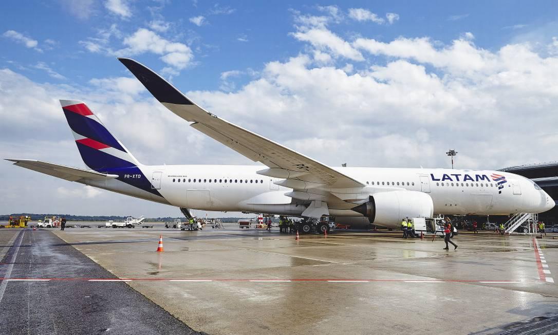 Avião da Latam Foto: Arquivo