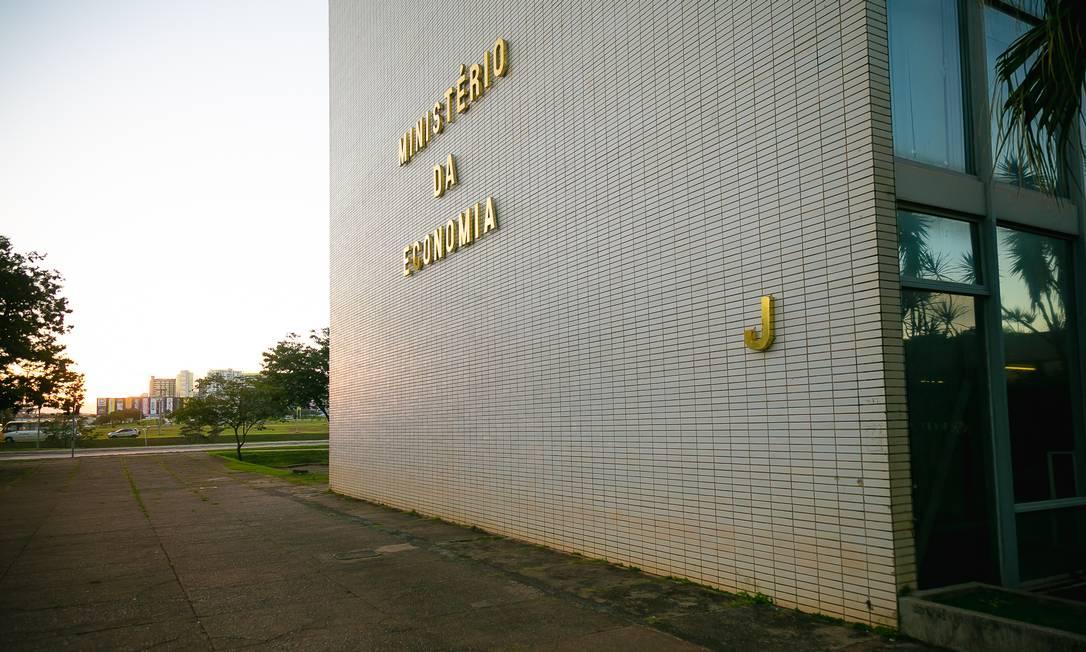 Ministério da Economia (foto) prevê queda de 4,7% do PIB em 2020 Foto: Washington Costa / Ministério da Economia