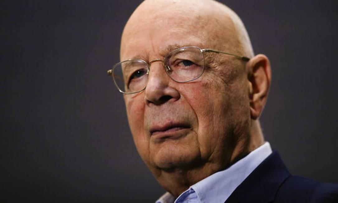 Klaus Schwab, fundador e presidente do Fórum Econômico Mundial Foto: Agência O Globo