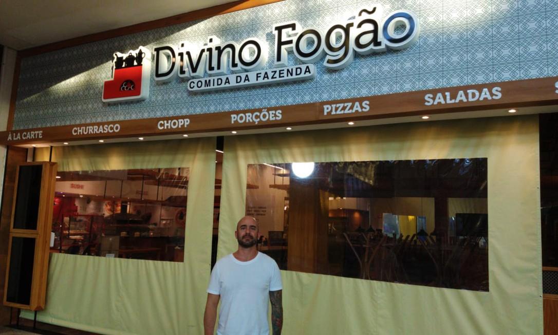 Leonardo Sacchi aproveitou o período em que os shoppings estiveram fechados para adaptar seu restaurante e garantir a segurança dos futuros clientes Foto: Divulgação