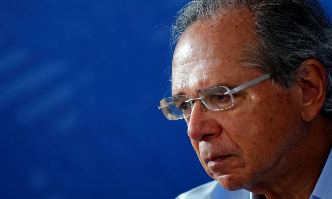 O ministro Paulo Guedes quer adiantar para este ano privatizações que só ocorreriam mais à frente Foto: Adriano Machado / Reuters
