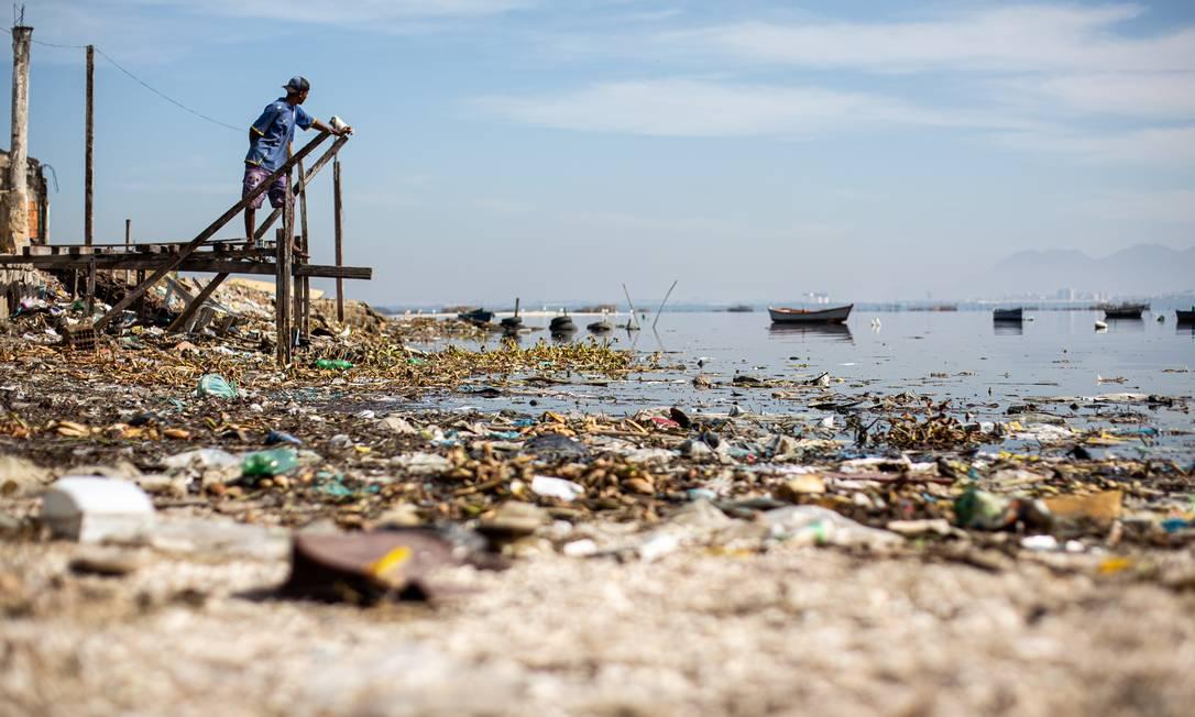 No Brasil, 40% das cidades não têm rede de esgoto Foto: Hermes de Paula / Agencia O Glob / Agência O Globo