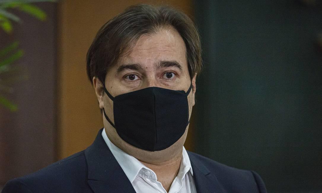 Rodrigo Maia diz que novo programa de renda básica poderia incluir estímulos para conter evasão escolar Foto: Agência O Globo