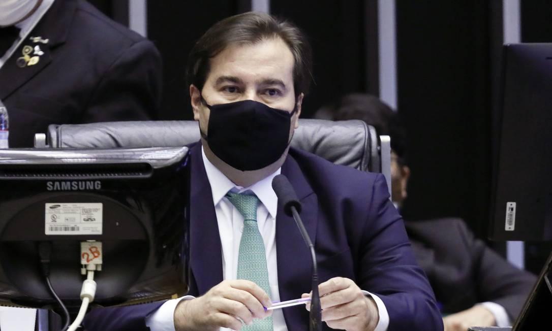 O presidente da Câmara, Rodrigo Maia, que não conseguiu almoçar com auxiliares de Paulo Guedes Foto: Agência O Globo