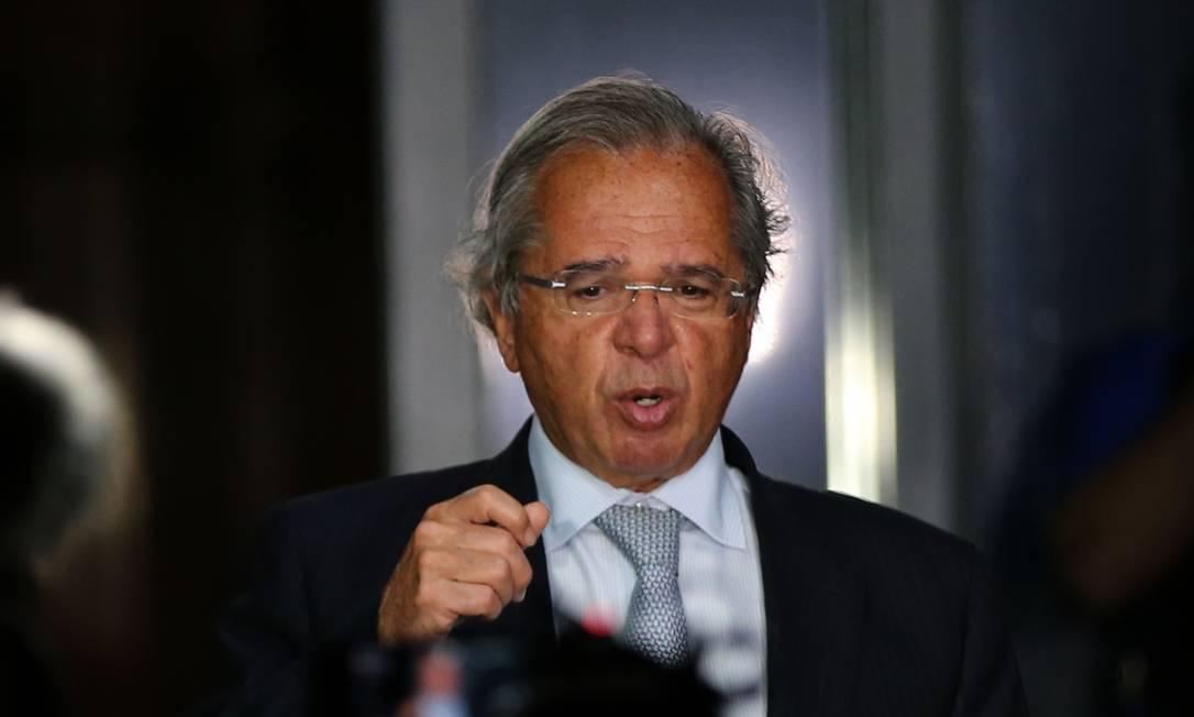 Guedes diz que existe muita confiança do presidente nele Foto: Jorge William / Agência O Globo