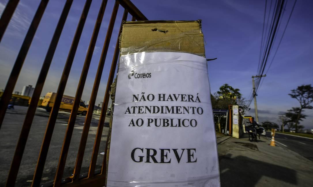 Centro de Distribuição de cargas dos Correios em São José dos Campos SP Foto: Agência O Globo