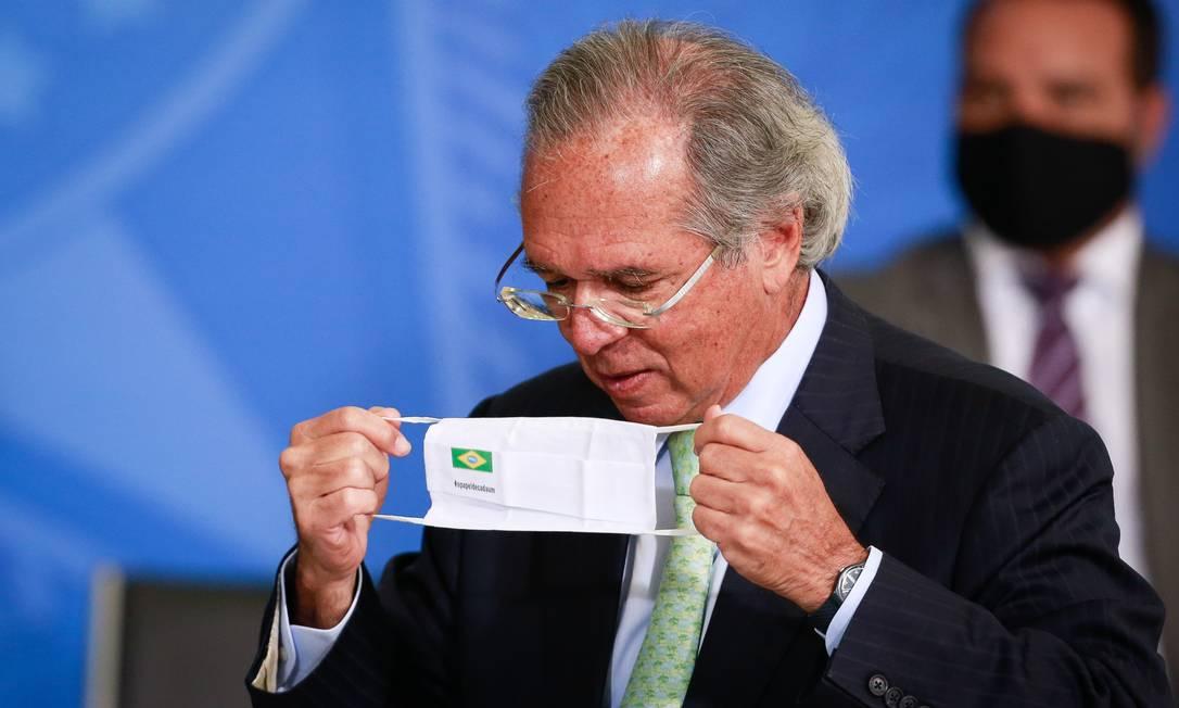 Declaração de Paulo Guedes abre crise no Senado Foto: Pablo Jacob / Agência O Globo