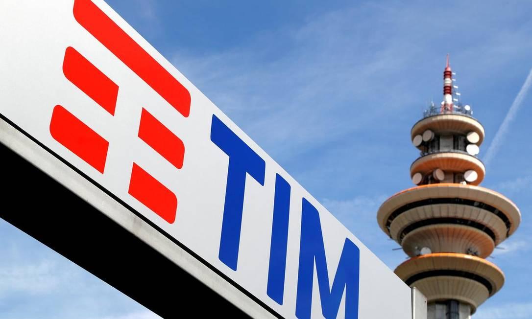 Logomarca da TIM Foto: Reuters
