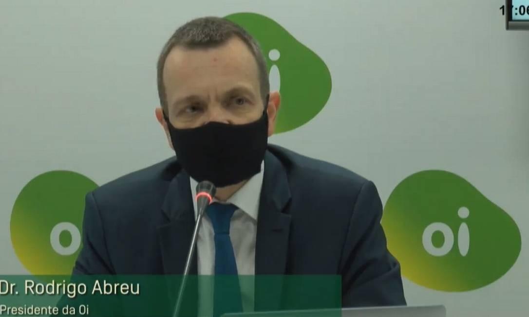 Presidente da Oi durante assembleia de credores.