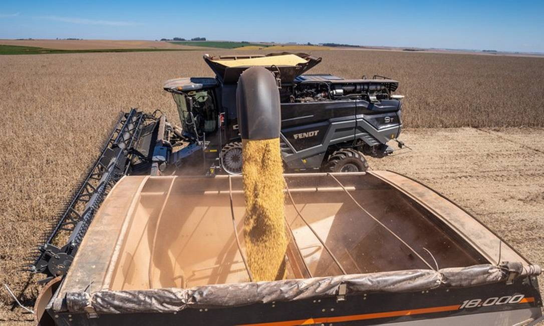 Produtos agropecuários, como a soja, representaram 50,3% das exportações nos oito primeiros meses do ano Foto: Agência O Globo