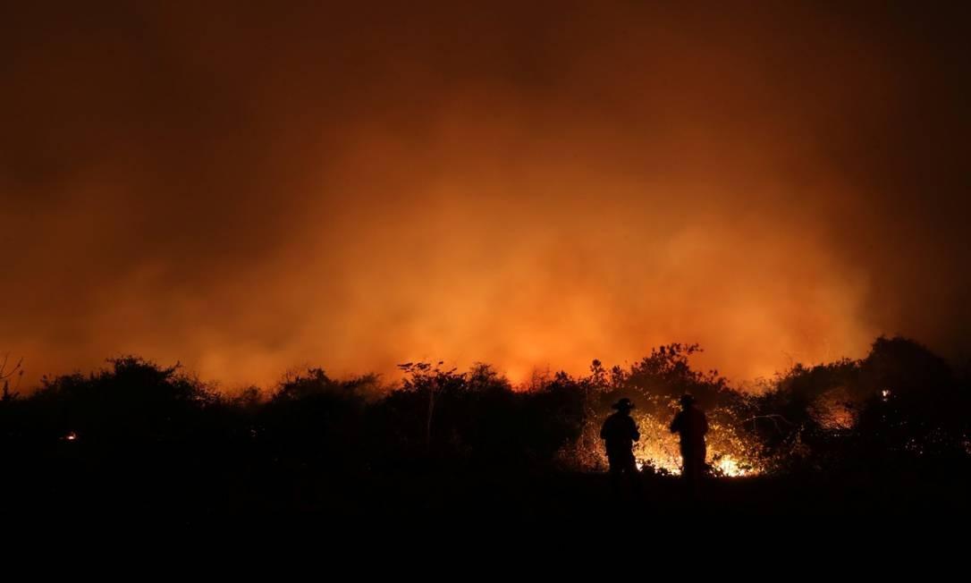 Incêndios no Pantanal já queimaram área equivalente a quatro cidades do Rio Foto: Amanda Perobelli / Reuters/26-8-2020