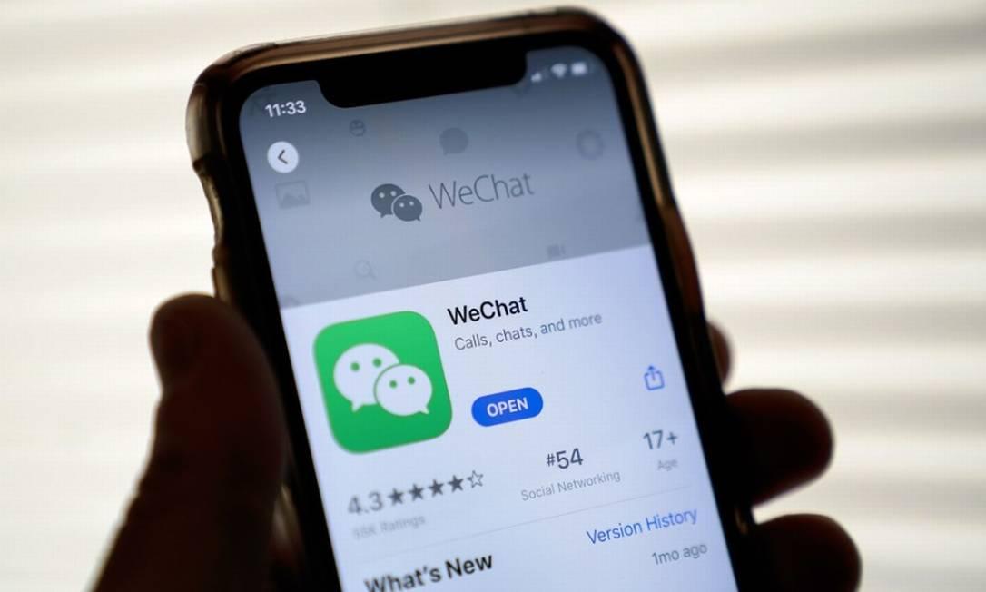 WeChat, um gigante com 1 bilhão de usuários Foto: Bloomberg
