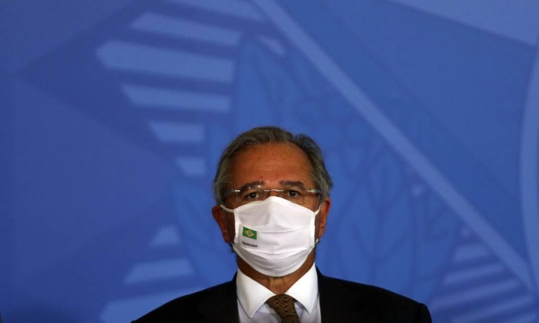 O ministro Paulo Guedes almoçou com Jair Bolsonaro neste sábado Foto: Jorge William