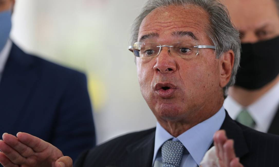 O ministro da Economia, Paulo Guedes ouviu as demandas de empresários Foto: Jorge William / Agência O Globo / 23-09-20