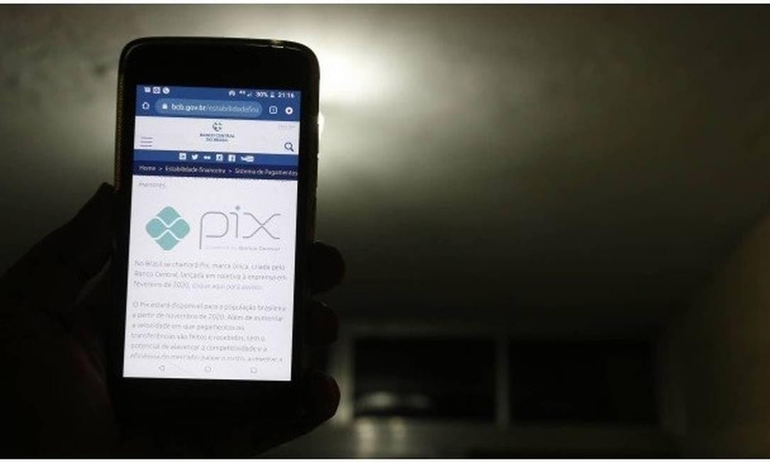 Transações pelo Pix ficarão disponíveis a partir de 16 de novembro Foto: Marcelo Theobald/Agência O Globo