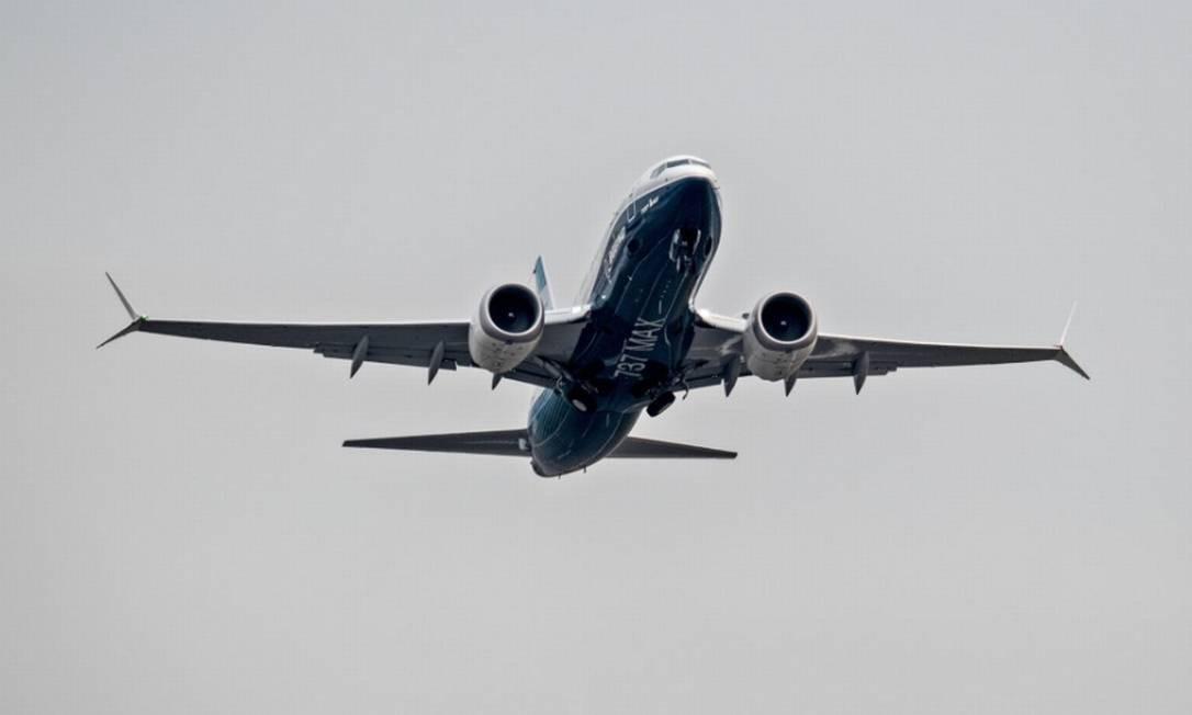 737 Max, da Boeing: sinal verde do órgão regulador de aviação no Brasil para voltar a operar Foto: Bloomberg