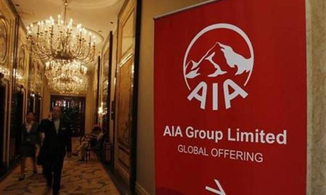 AIA Group, empresa de investimentos e seguros com sede em Hong Kong foi oferecida ao público em outubro de 2010, levantando mais de US$ 20,5 bilhões, tornando-se o maior grupo de seguro de vida pan-asiático independente e listado publicamente Foto: Reuters