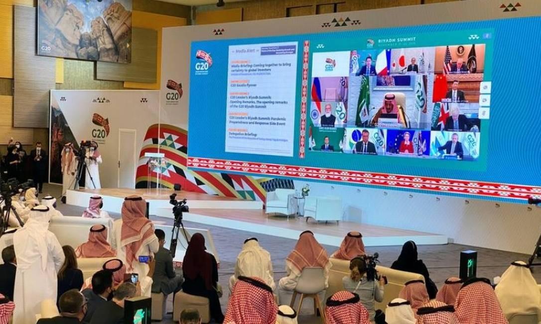 Encontro da 15ª Cúpula do G20 ocorre em Riad, capital da Arábia Saudita Foto: Reuters