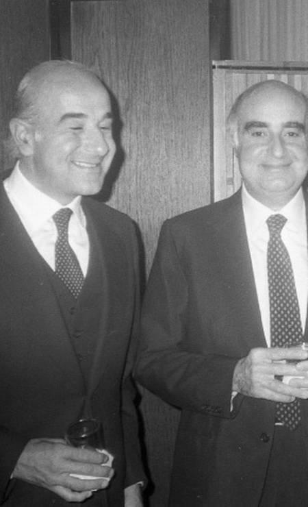 Nesta foto de outubro de 1981, Joseph aparece ao lado do irmão, Edmundo, em recepção do ministro Saraiva Guerreiro aos representantes latino-americanos da reunião da ONU, em Manhattan (EUA) Foto: Arquivo/Agência O Globo
