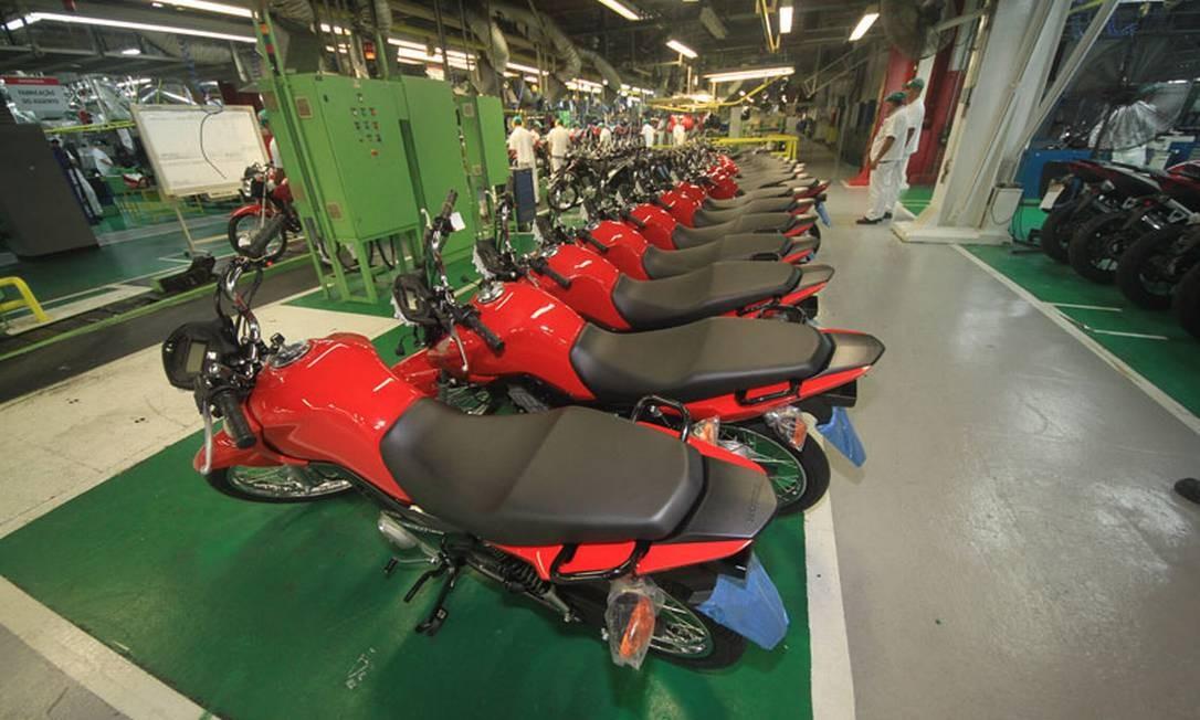 Fábrica da Honda em Manaus suspende produção de motos temporariamente Foto: Arquivo