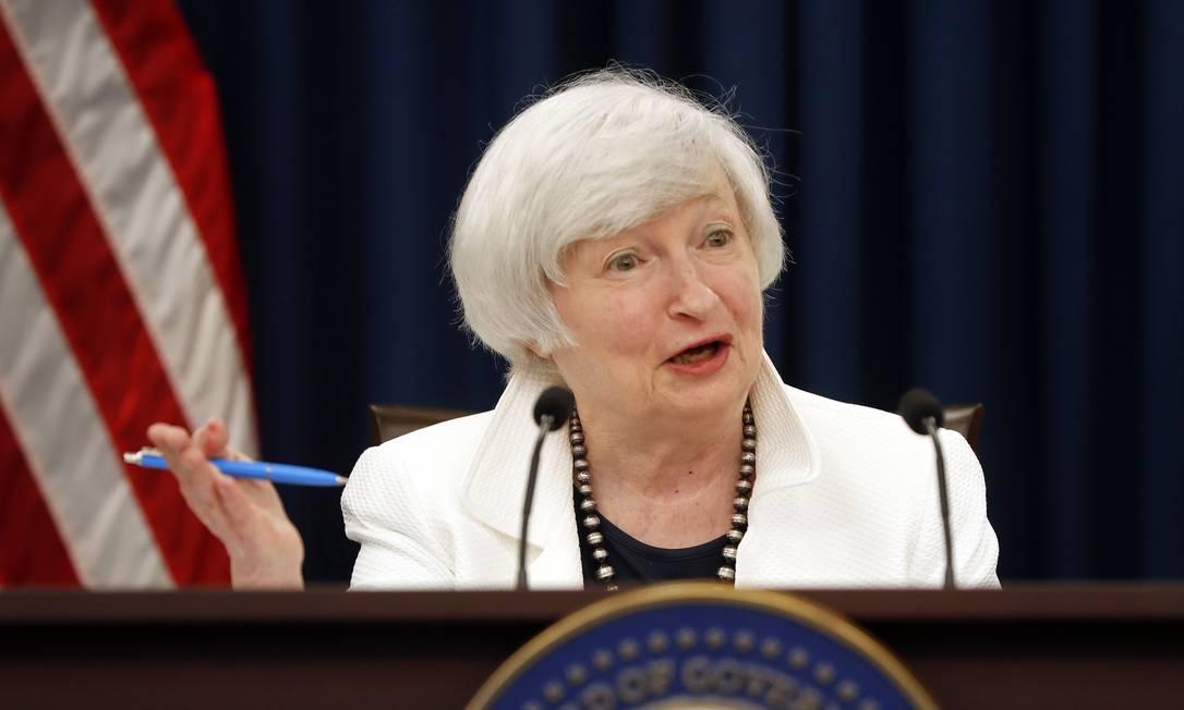 Janet Yellen é aprovada pelo Senado e se torna a primeira mulher secretária do Tesouro dos EUA Foto: Arquivo
