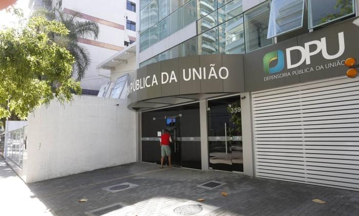 Defensoria Pública da União em Icaraí, Niterói, RJ Foto: Fábio Guimarães / Agência O Globo