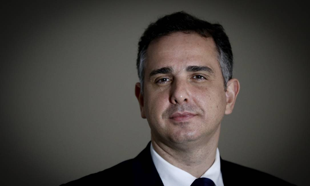 Rodrigo Pacheco, candidato à presidência do Senado Foto: Pablo Jacob / Agência O Globo
