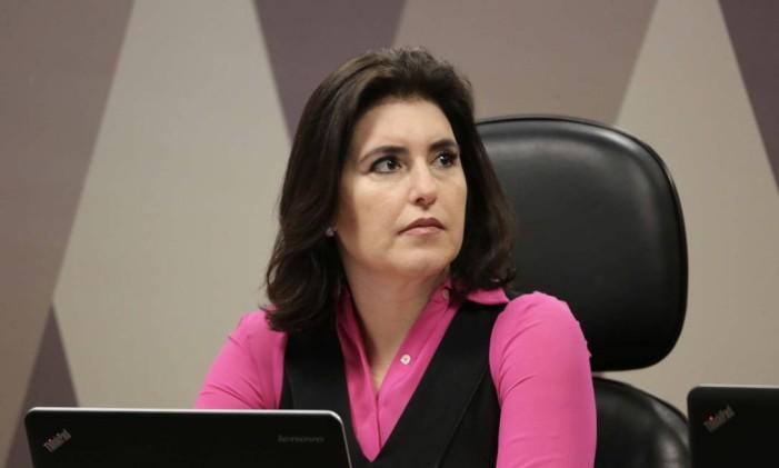 A senadora Simone Tebet, candidata à presidência do Senado Foto: Agência O Globo