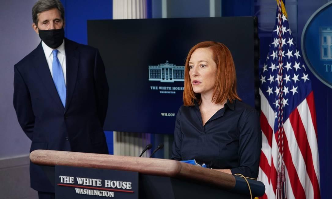 Porta-voz da Casa Branca, Jen Psaki diz que país não considera a Huawei um fornecedor confiável Foto: AFP