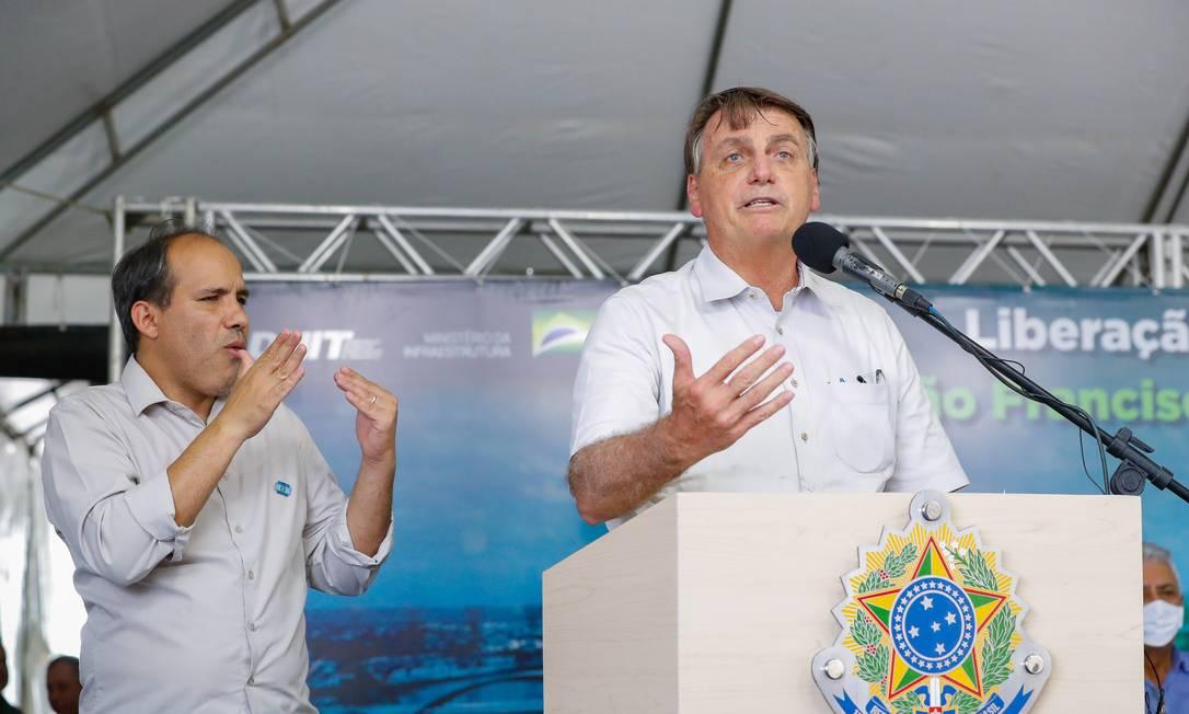Bolsonaro descarta novo auxílio emergencial Foto: Alan Santos / Agência O Globo