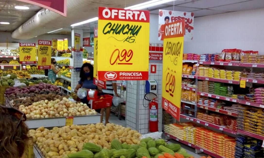 Freio no varejo: A rede Princesa prevê impacto do fim do auxílio este mês Foto: Divulgação / Agência O Globo