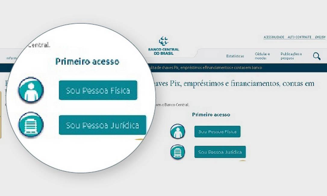 . Foto: Criação O Globo/ Reprodução do site do BC