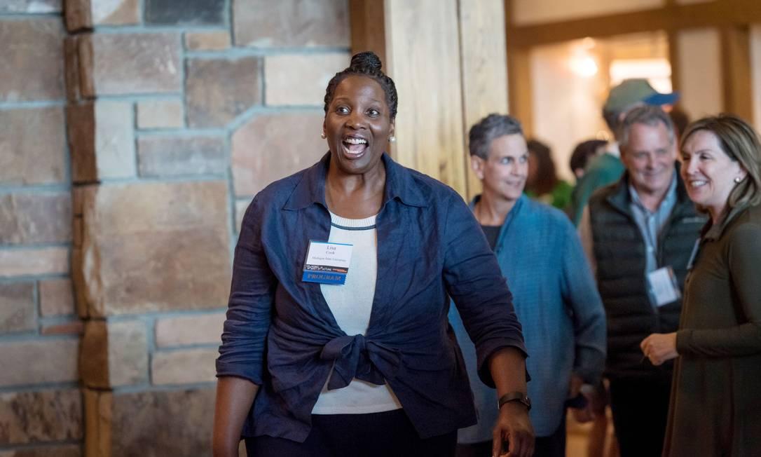 Lisa Cook pode ser a primeira negra a ocupar um cargo na cúpula do Fed Foto: David Paul Morris / Bloomberg