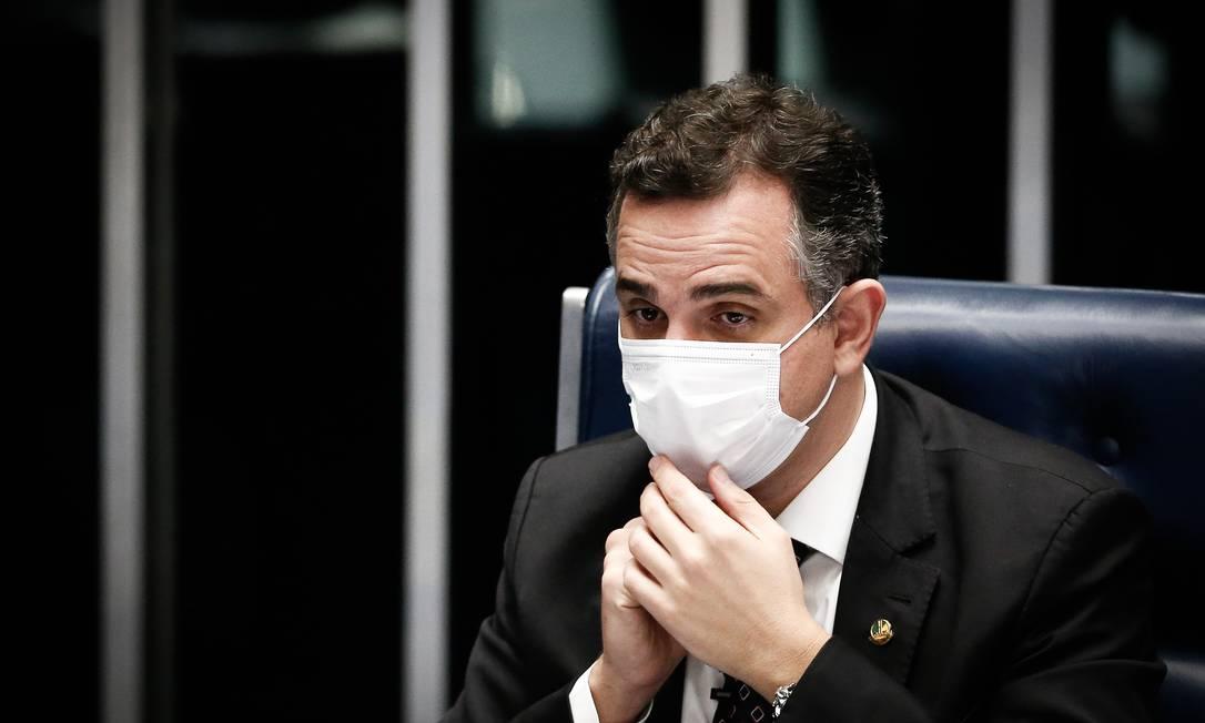Votação do relatório do Senador Marcio Bittar, relator do projeto da PEC do Auxilio Emergencial no Senado Foto: Pablo Jacob / Agência O Globo
