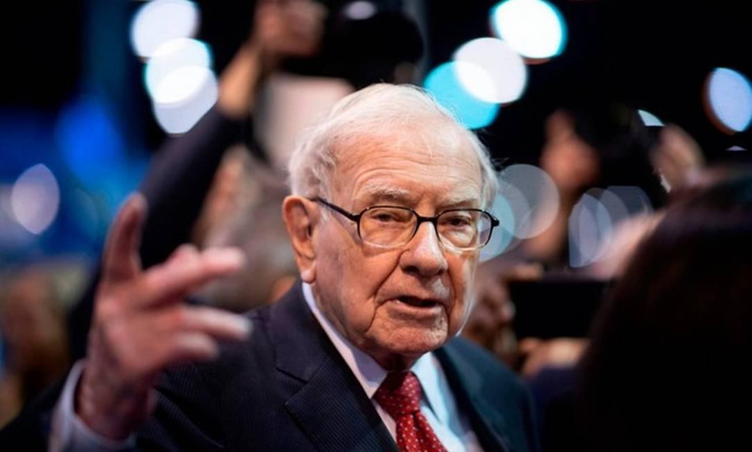 Bilionário do setor financeiro Warren Buffet também está na lista dos americanos que aumentaram suas riquezas este ano: ganho com ações Foto: AFP