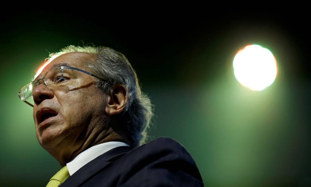 O ministro Paulo Guedes voltou a defender a proposta fatiada de reforma tributária do governo Foto: Reuters