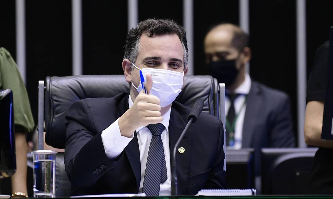 Orçamento 2021: Congresso está aberto a negociar, diz presidente do Senado, Rodrigo Pacheco Foto: Pedro Fran¿a / Agência O Globo